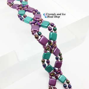Criss Cross Bracelet Kit - Purple and Teal