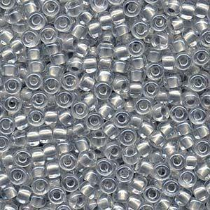 Miyuki Seed Beads 6/0 in Inside Dyed Pearlised Silver