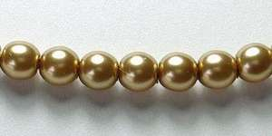 4mm Czech Glass Pearl in Gold