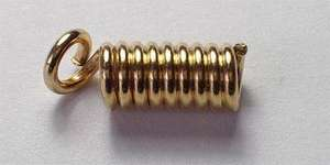 8mm Spring End in Gold Plated
