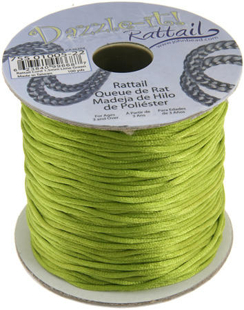 1.5mm Rattail Cord - Lime Green