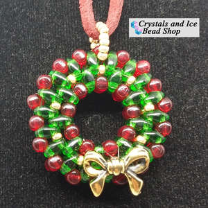 Christmas Wreath Kit - Necklace / Tree Ornament v2