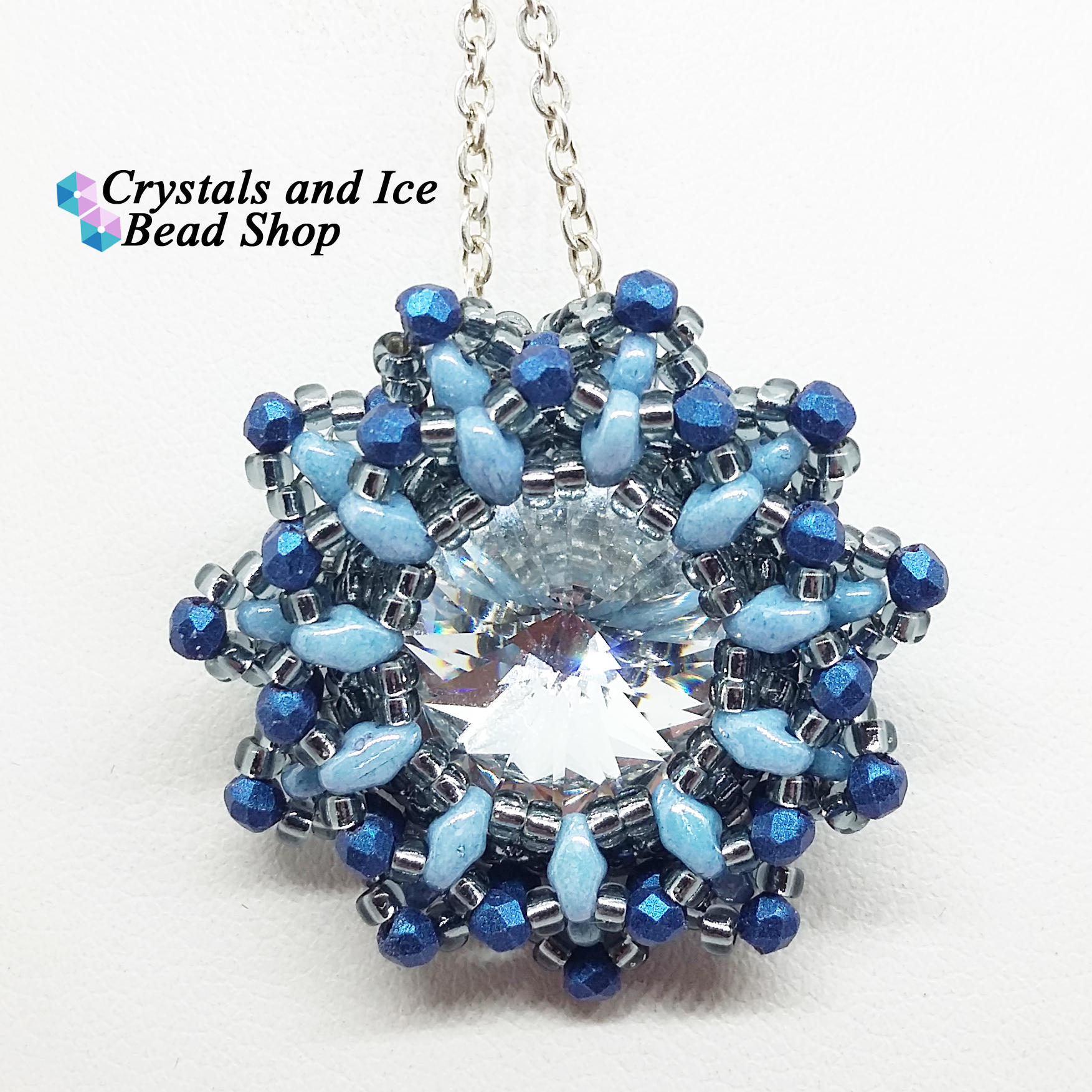 Snow Flower Pendant Kit - Glacier