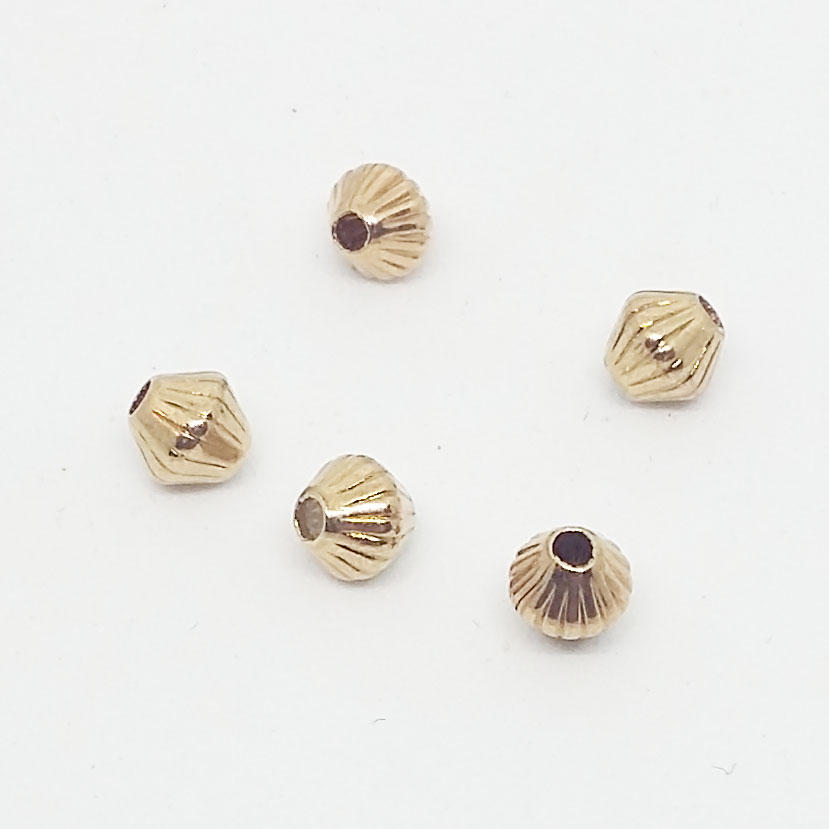 5mm Fluted Hogan - Gold Plated