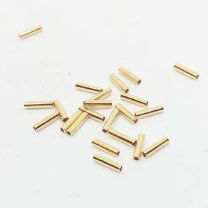 5mm Plain Heishi Beads - Gold Plated