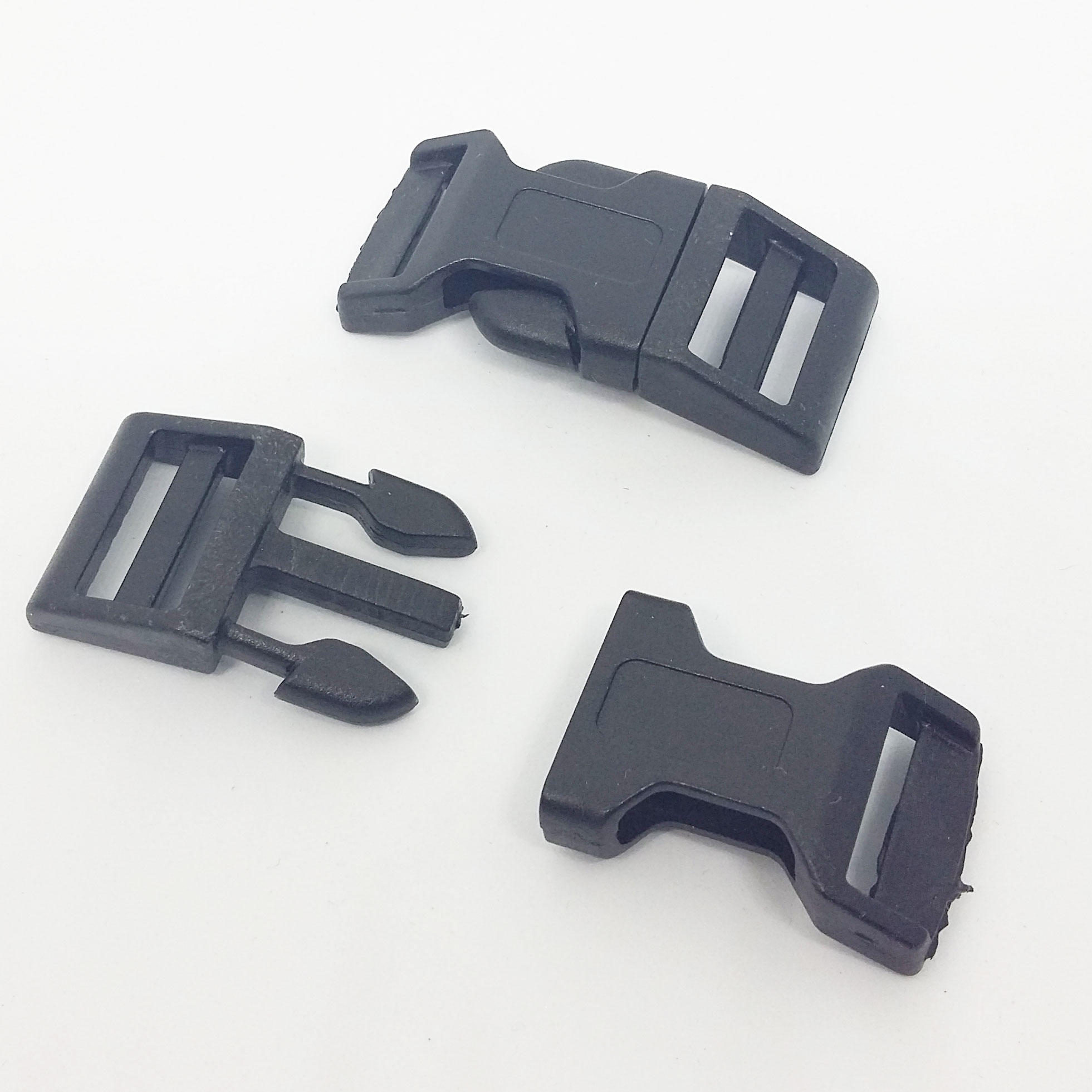 40x20x7mm Plastic Side Release Buckle - Black