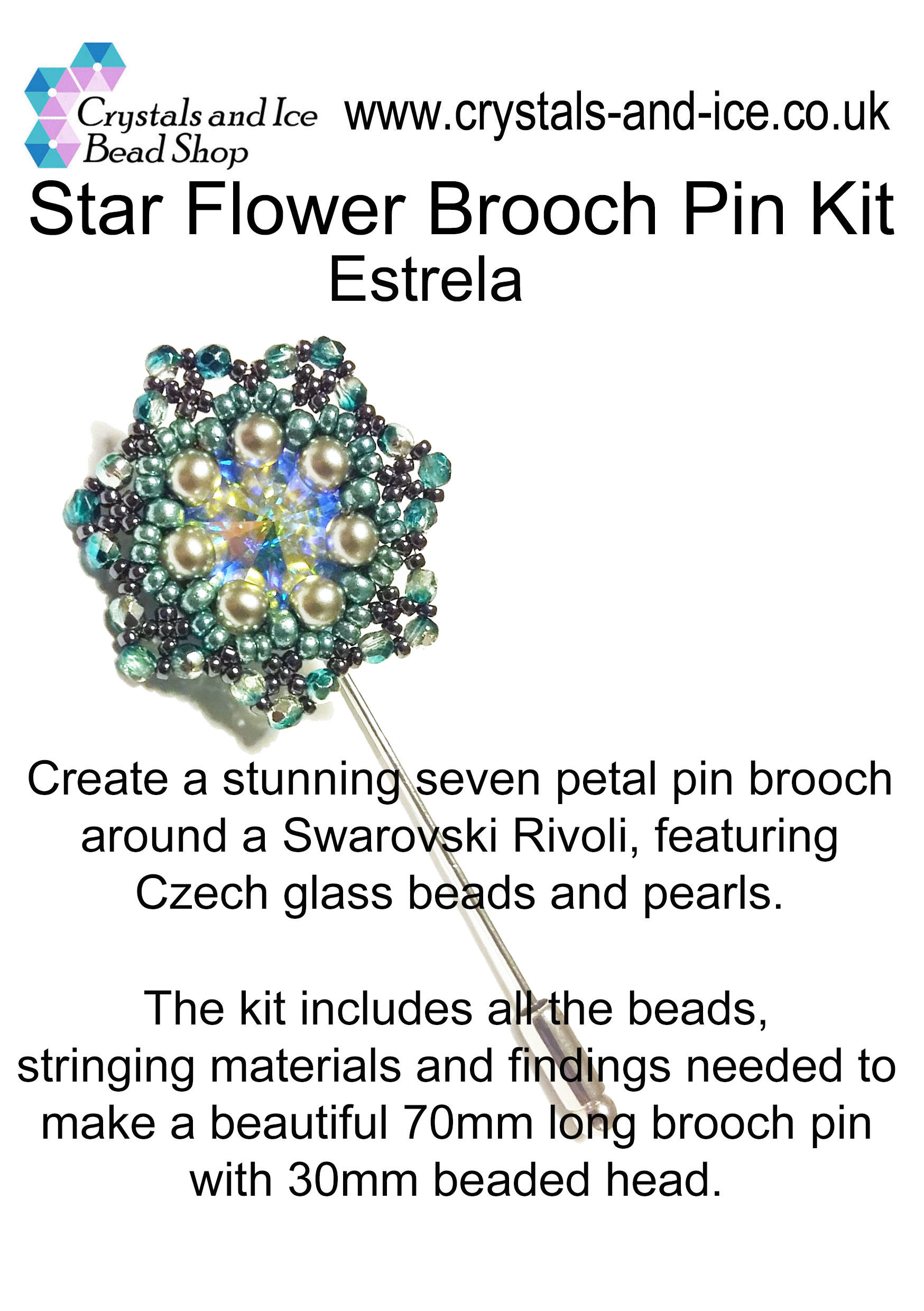 Star Flower Brooch Pin Kit - Estrela