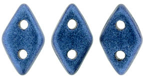 CzechMates Two Hole Diamond Beads - Metallic Suede Blue