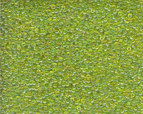 Miyuki Seed Beads 11/0 in Lime Green Transparent AB