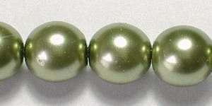 8mm Czech Glass Pearl in Olivine