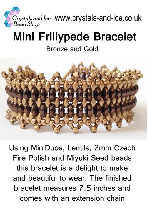 Mini Frillypede Bracelet Kit - Bronze and Gold