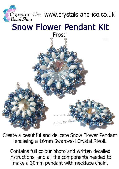 Snow Flower Pendant Kit - Frost