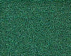 Miyuki Seed Beads 15/0 in Green/Blue/Gold Trans. Rainbow