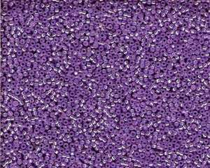 Miyuki Seed Beads 15/0 in Purple Trans. Silver Lined
