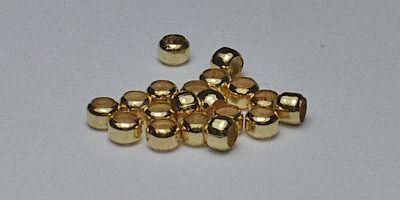 2mm Bead Crimp in Gold Plate