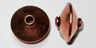 17mm x 10.5mm Disc Spacer - Copper Plated