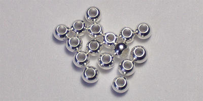 2.5mm Round - Silver Plated