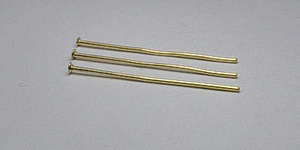 25mm Medium Headpin in Gold Plate