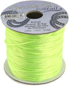 1.5mm Rattail Cord - Neon Green