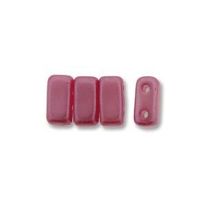 3x6mm Czech Mates Two Hole Brick in Pastel Pink