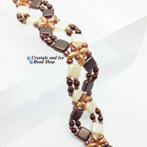 Criss Cross Bracelet Kit - Coffee and Cream