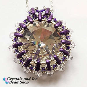 Ritzy Glitzy - Swarovski Crown Stone Pendant Kit (Purple)