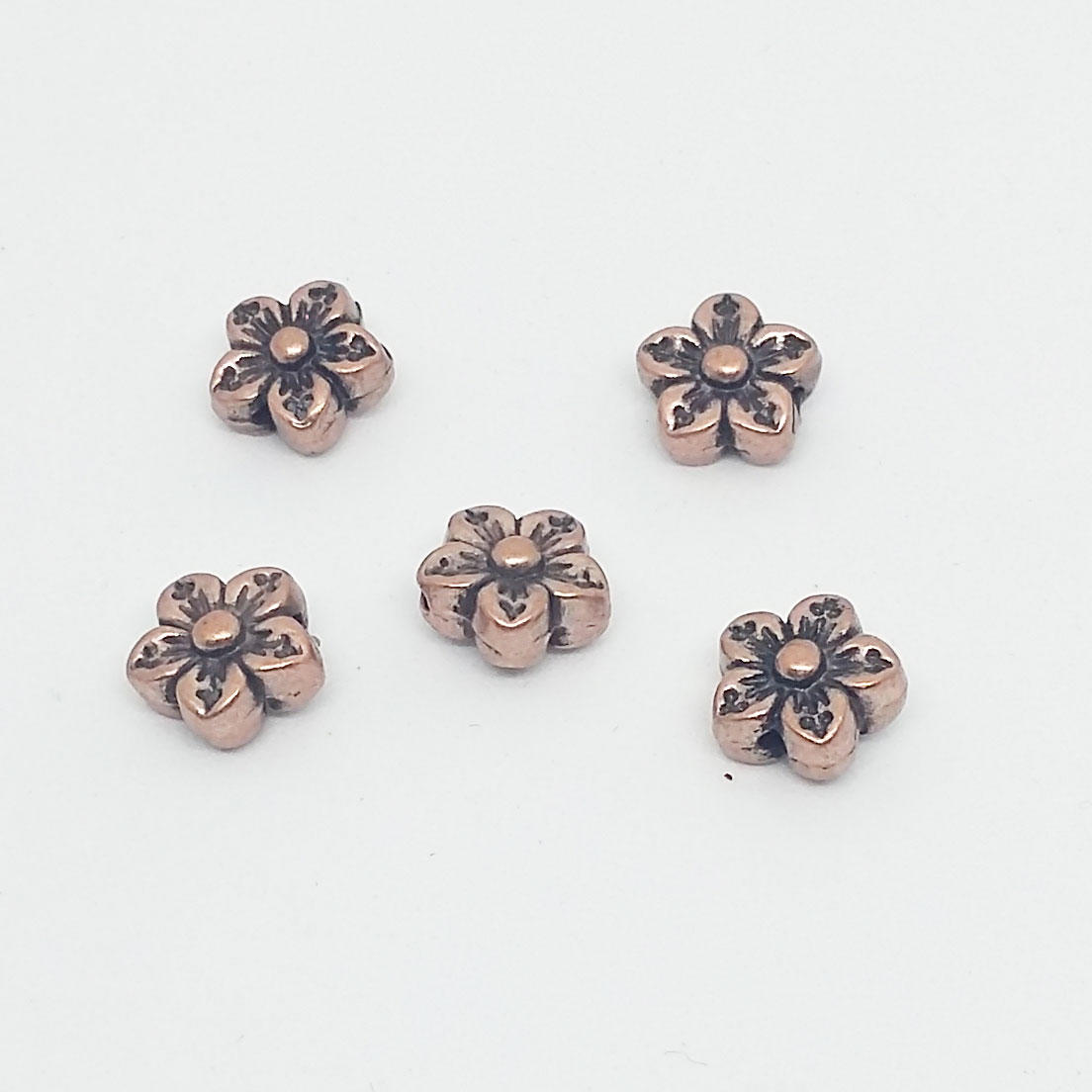 9mm Flower Spacer Bead - Copper