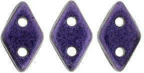 CzechMates Two Hole Diamond Beads - Metallic Suede Purple