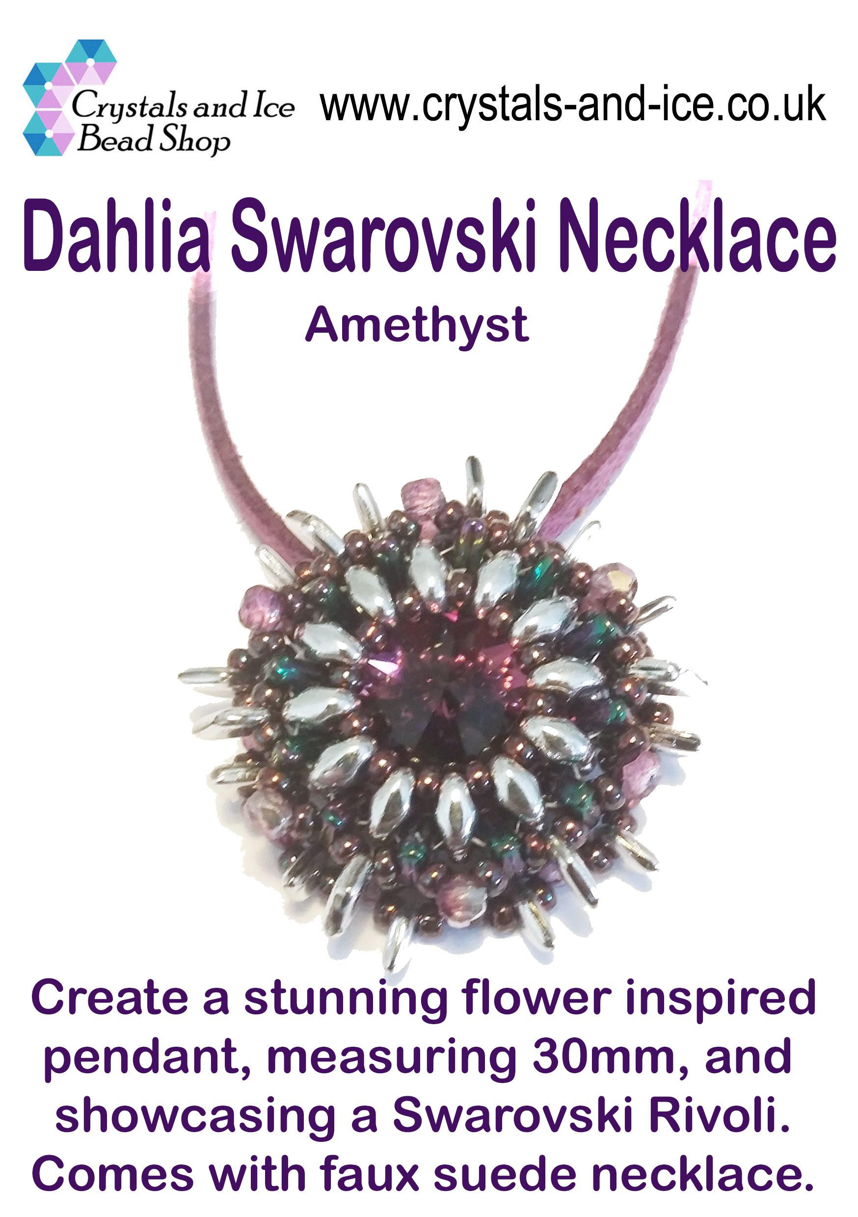 Dahlia Swarovski Necklace Kit - Amethyst