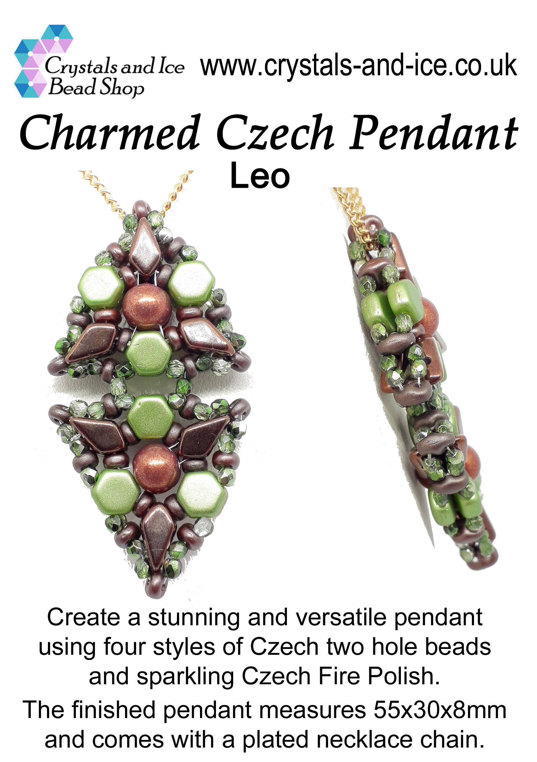 Charmed Czech Pendant Kit - Leo