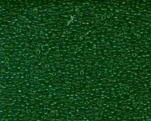Miyuki Seed Beads 11/0 in Dark Green Transparent