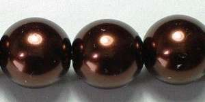 8mm Czech Glass Pearl in Bronze