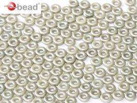 2x4mm O Bead in Pastel Light Grey