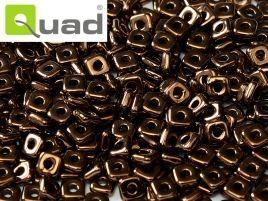 4mm Quad Bead in Jet Bronze