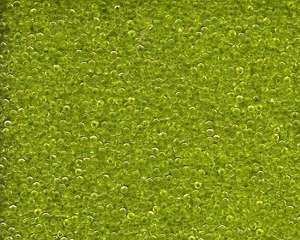 Miyuki Seed Beads 15/0 in Lime Green Transparent