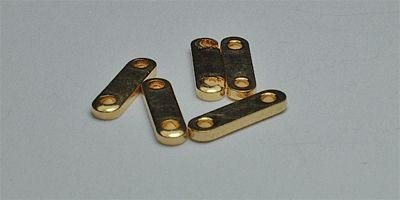 7mm 2 hole Spacer Bar in Gold Plate