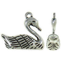 22x19x8mm Swan Charm - Ant. Silver Plate