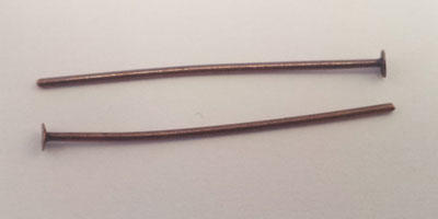 25mm Headpin in Copper Plate