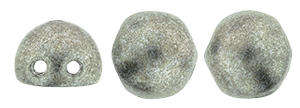 CzechMates Two Hole Cabochons in Saturated Metallic Sharkskin