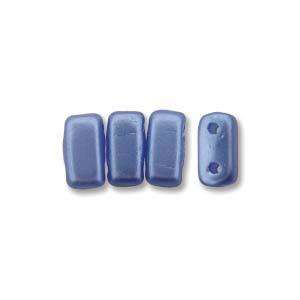 3x6mm Czech Mates Two Hole Brick in Pastel Sapphire