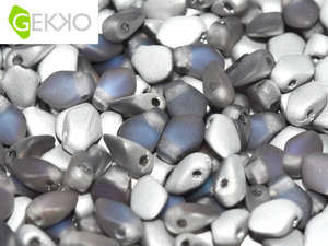 3x5mm Gekko Bead - Crystal Bermuda Blue Matte