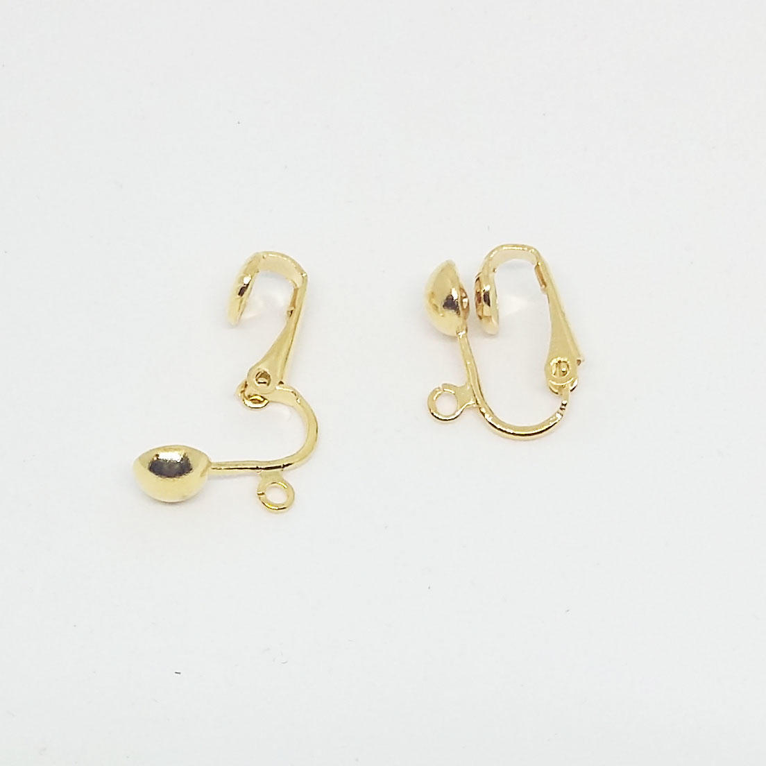 Round Clip On Earring - Gold Plated