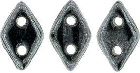 CzechMates Two Hole Diamond Beads - Hematite
