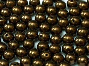 3mm Czech Glass Round - Jet Bronze