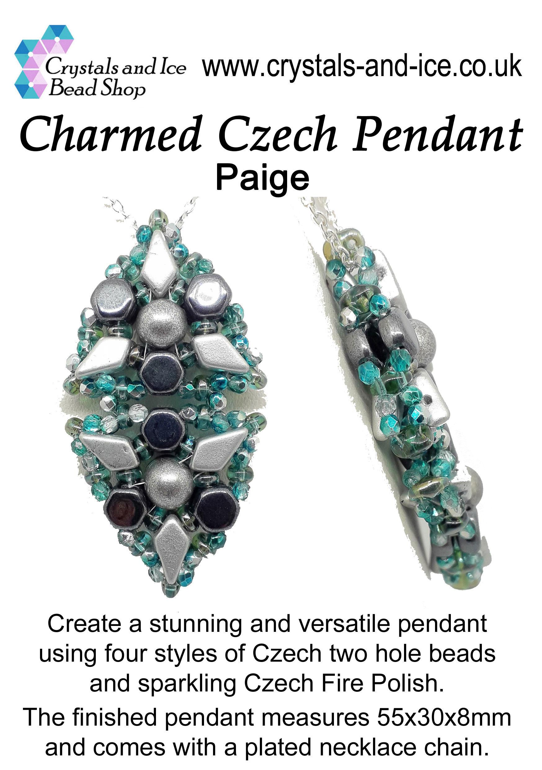 Charmed Czech Pendant Kit - Paige