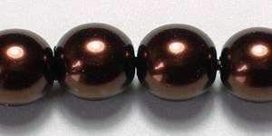 6mm Czech Glass Pearl in Bronze