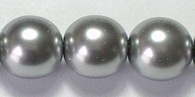 8mm Czech Glass Pearl in Silver