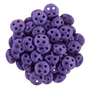6mm CzechMates QuadraLentil in Metallic Suede Purple