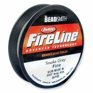 FireLine Braided Bead Thread - Smoke Grey 6lb  Size D (0.008 inch)