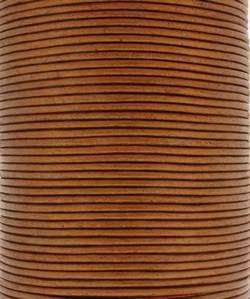 2mm Round Leather - Metallic Gold